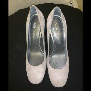 Gray Suede Stuart Weitzman Shoe
